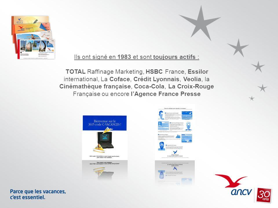 Ils ont signé en 1983 et sont toujours actifs : TOTAL Raffinage Marketing, HSBC France, Essilor international, La Coface, Crédit Lyonnais, Veolia, la