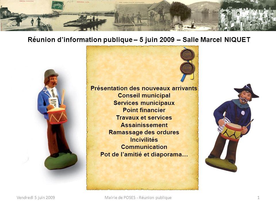 Vendredi 5 juin 2009Mairie de POSES - Réunion publique31 Moment attendu !