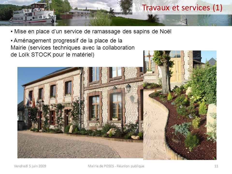 Point financier Mairie de POSES - Réunion publiqueVendredi 5 juin 200910 200020012002200320042005200620072008200920102011 Coût du restaurant scolaire3