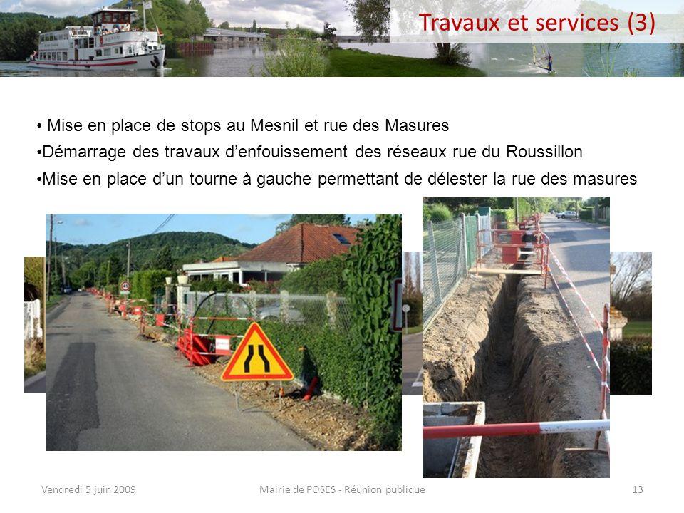 Réaménagement des bureaux administratifs du rez-de-chaussée de la mairie (services techniques municipaux) Mairie de POSES - Réunion publiqueVendredi 5