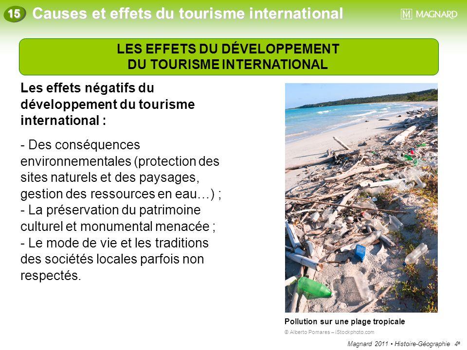Magnard 2011 Histoire-Géographie 4 e Causes et effets du tourisme international 15 LES EFFETS DU DÉVELOPPEMENT DU TOURISME INTERNATIONAL Les effets né