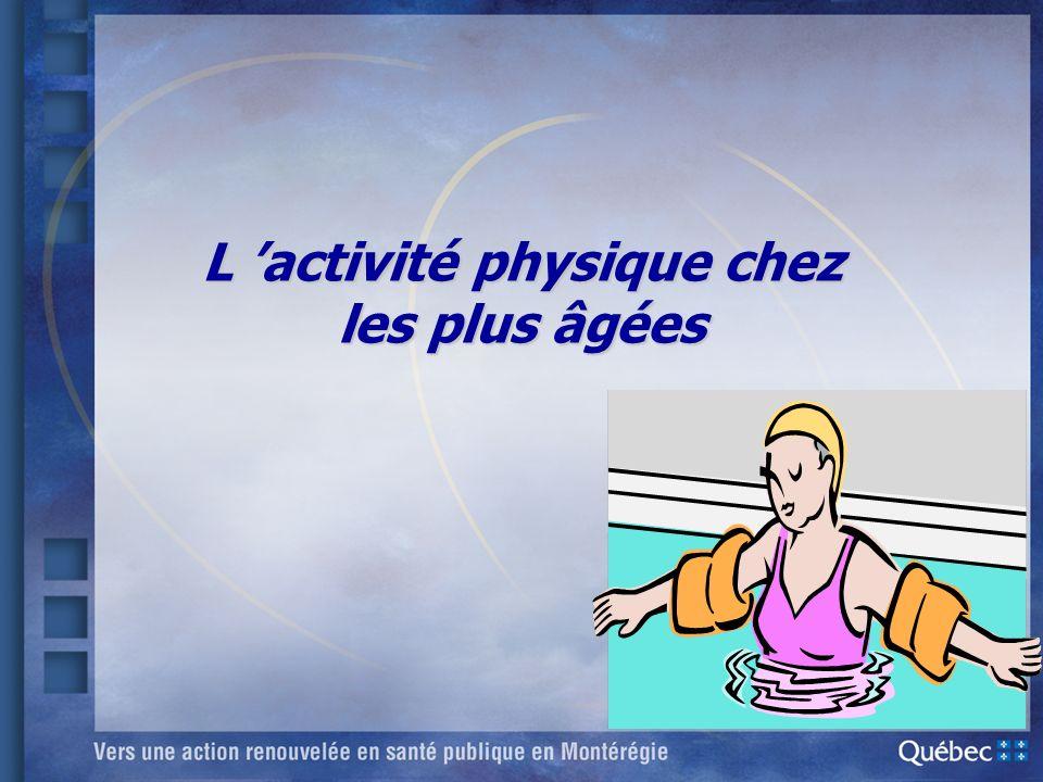 L activité physique chez les plus âgées