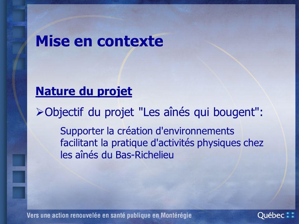 Mise en contexte Nature du projet Objectif du projet