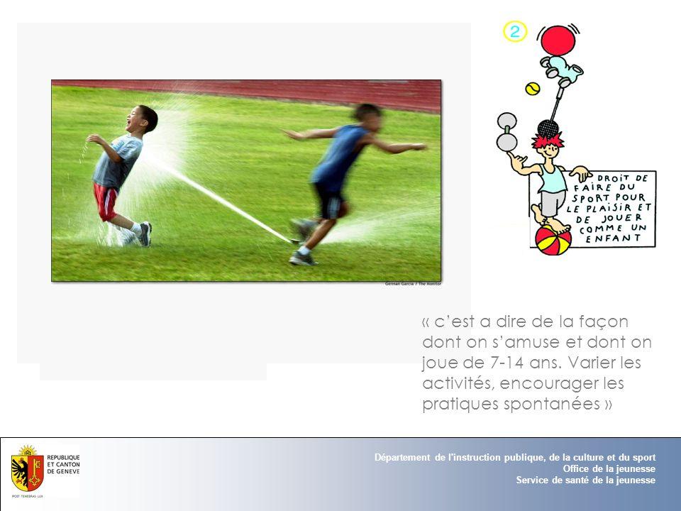 Département de l'instruction publique, de la culture et du sport Office de la jeunesse Service de santé de la jeunesse « cest a dire de la façon dont