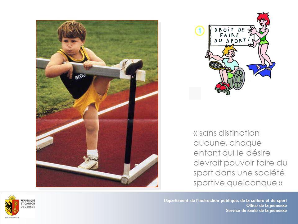 Département de l instruction publique, de la culture et du sport Office de la jeunesse Service de santé de la jeunesse