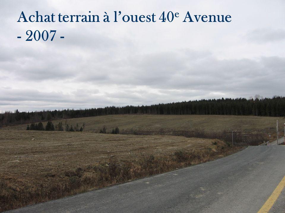 Achat terrain à louest 40 e Avenue - 2007 -