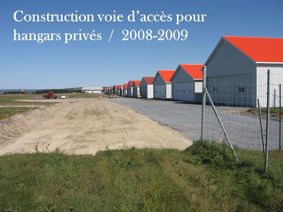 Construction voie daccès pour hangars privés / 2008-2009