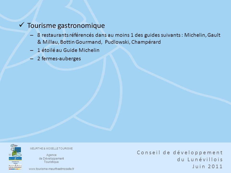 MEURTHE & MOSELLE TOURISME Agence de Développement Touristique www.tourisme-meurtheetmoselle.fr Conseil de développement du Lunévillois Juin 2011 Tour