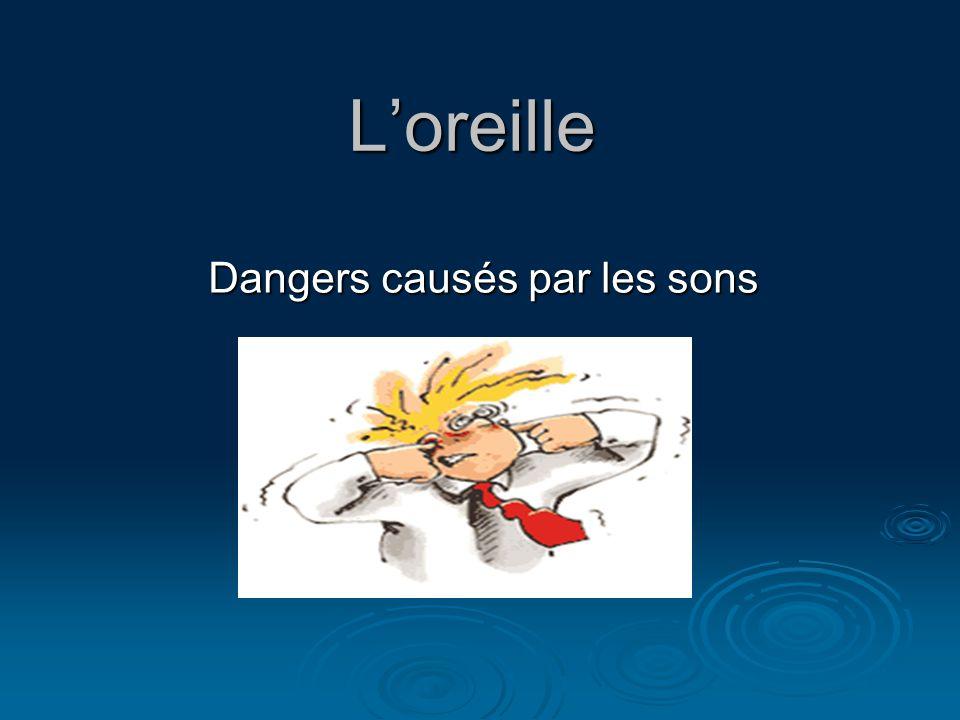 Loreille Dangers causés par les sons