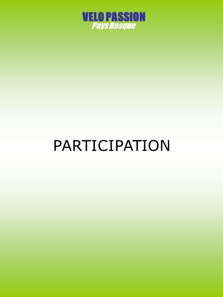 VELO PASSION Pays Basque PARTICIPATION