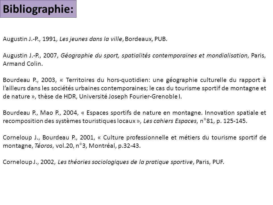 Augustin J.-P., 1991, Les jeunes dans la ville, Bordeaux, PUB.