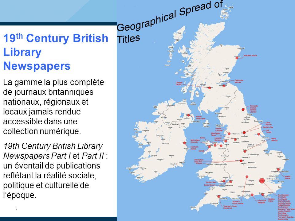 14 Options de recherche Recherche simple Recherche avancée Recherche par publication Navigation dans les publications par domaine géographique NOUVEAU : Gale NewsVault (Une seule interface pour une recherche croisée dans toutes les archives de journaux de Gale)