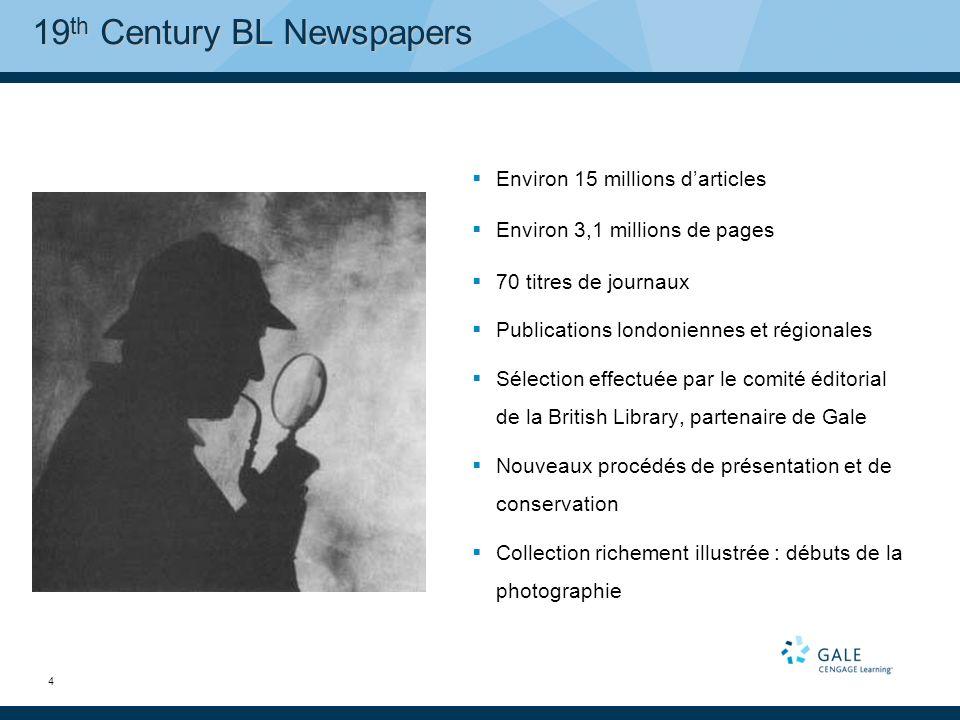 35 Gale NewsVault : recherche croisée dans les archives de journaux historiques