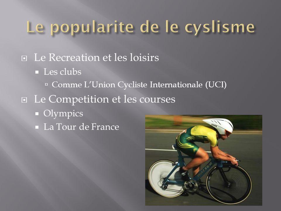 Quels types de gens aiment de cyclisme.Comment-ils montrent ses enthousiasme.