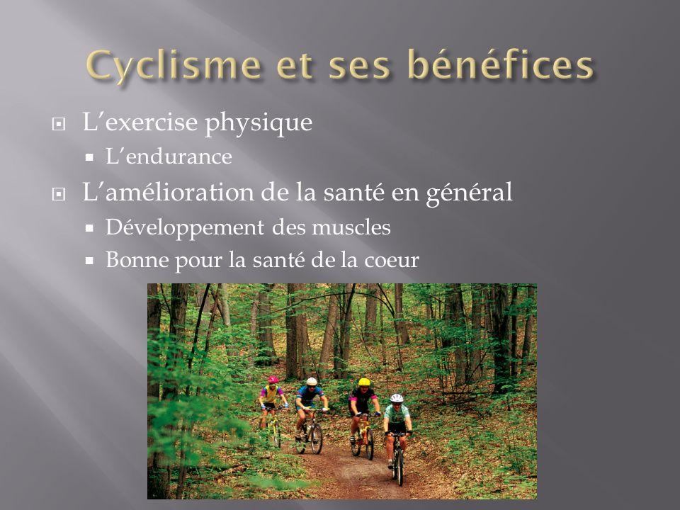 Lexercise physique Lendurance Lamélioration de la santé en général Développement des muscles Bonne pour la santé de la coeur