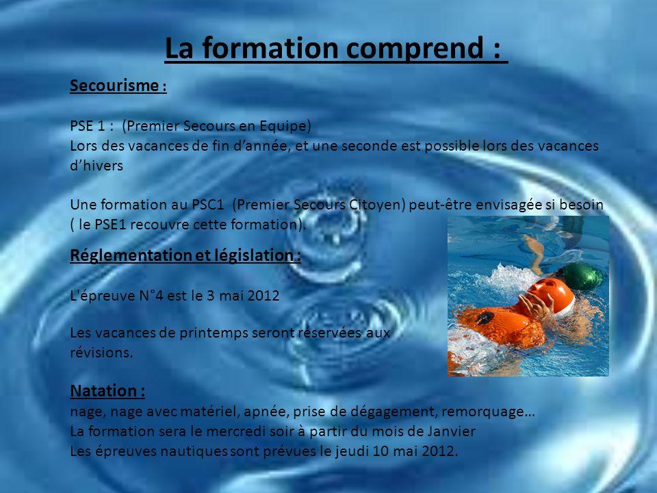 Formation BNSSA - Le Cercle des Nageurs de Niort en association avec - Le Comité Départemental de Sauvetage et Secourisme 12 inscrits dont les dossier
