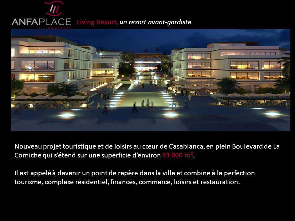 Nouveau projet touristique et de loisirs au cœur de Casablanca, en plein Boulevard de La Corniche qui sétend sur une superficie denviron 93 000 m². Il