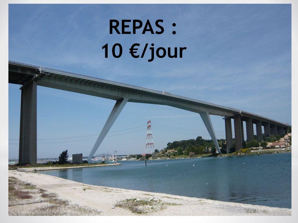 REPAS : 10 /jour