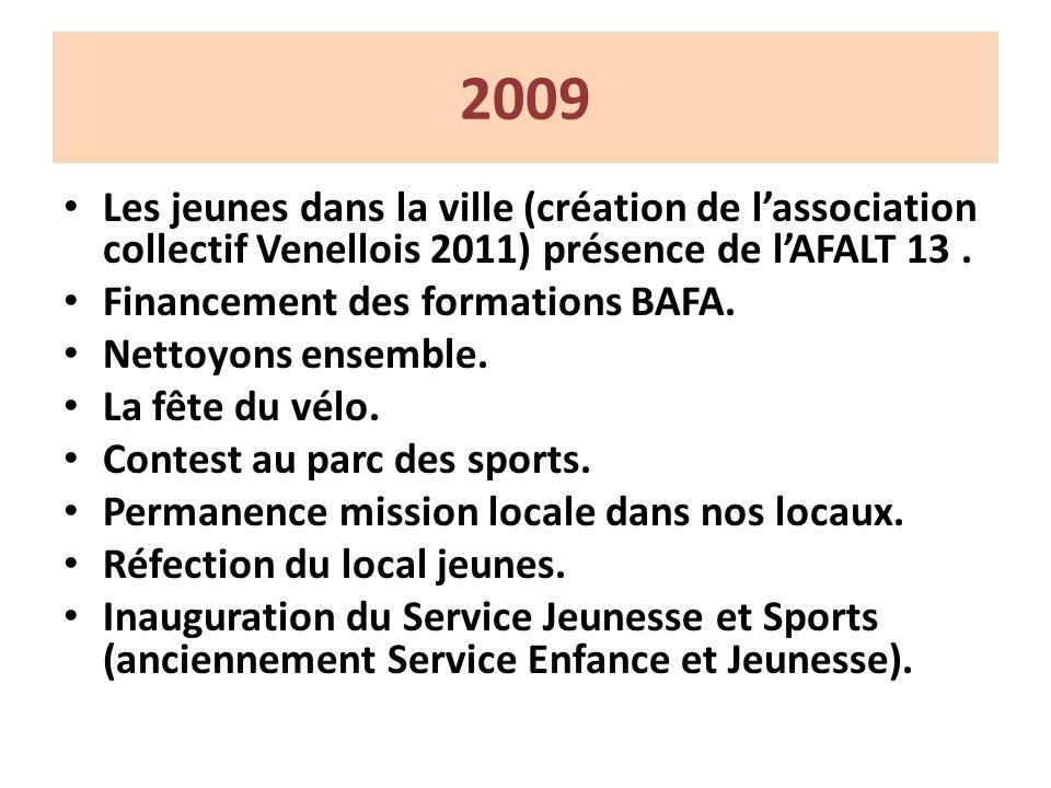 2009 Les jeunes dans la ville (création de lassociation collectif Venellois 2011) présence de lAFALT 13.