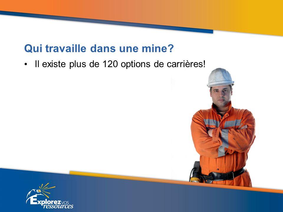 Qui travaille dans une mine Il existe plus de 120 options de carrières!