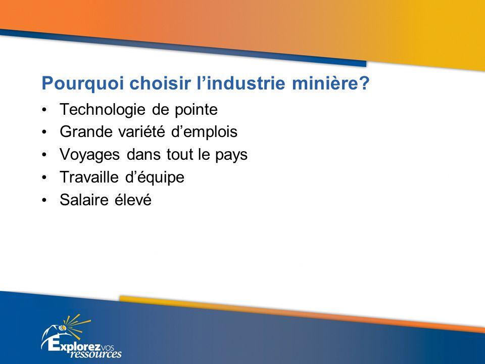 Pourquoi choisir lindustrie minière.