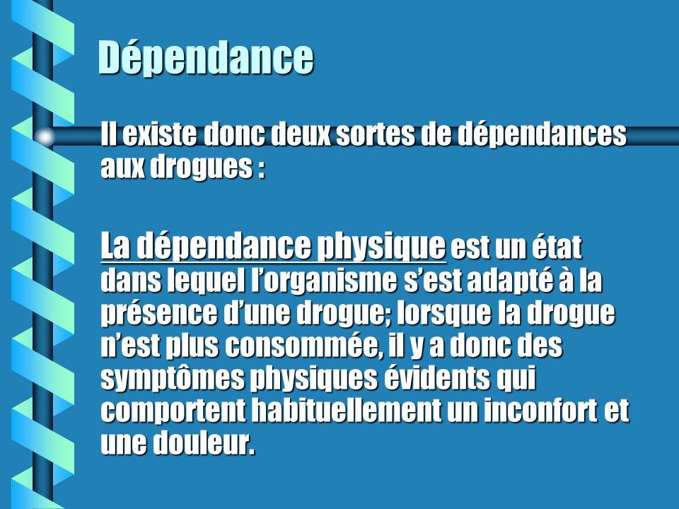 La dépendance commence quand? La dépendance est installée quand on ne peut plus se passer de consommer, sous peine de souffrances physiques ou psychol