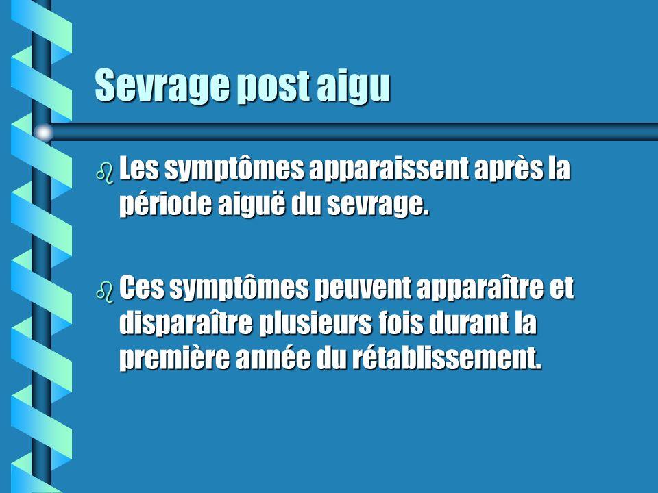 Symptômes de sevrage (suite) b colère, irritabilité, sauts dhumeur b frissons b dépression b difficulté à se concentrer