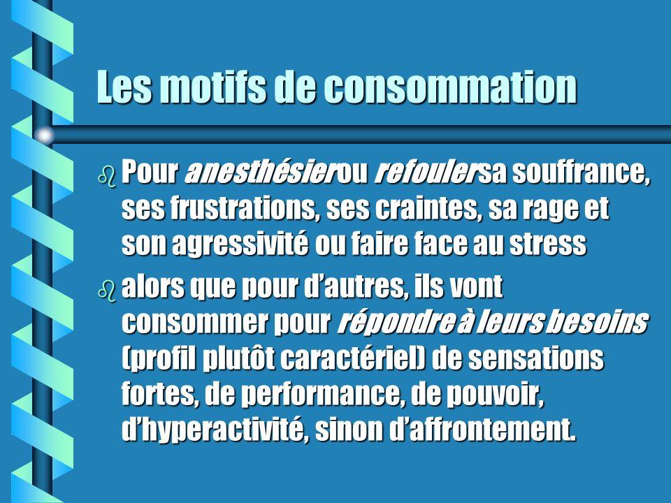 Consommation régulière b La consommation à un pattern prévisible qui peut être fréquent ou non (ex: à toutes les fins de semaine, à toutes les danses