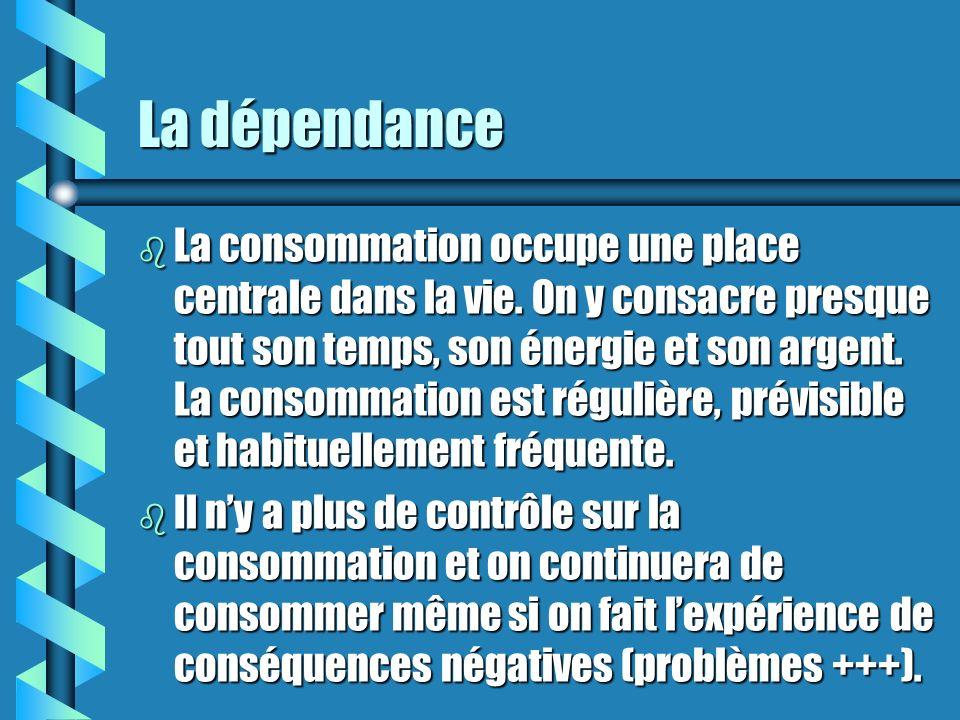 La dépendance b La consommation occupe une place centrale dans la vie.