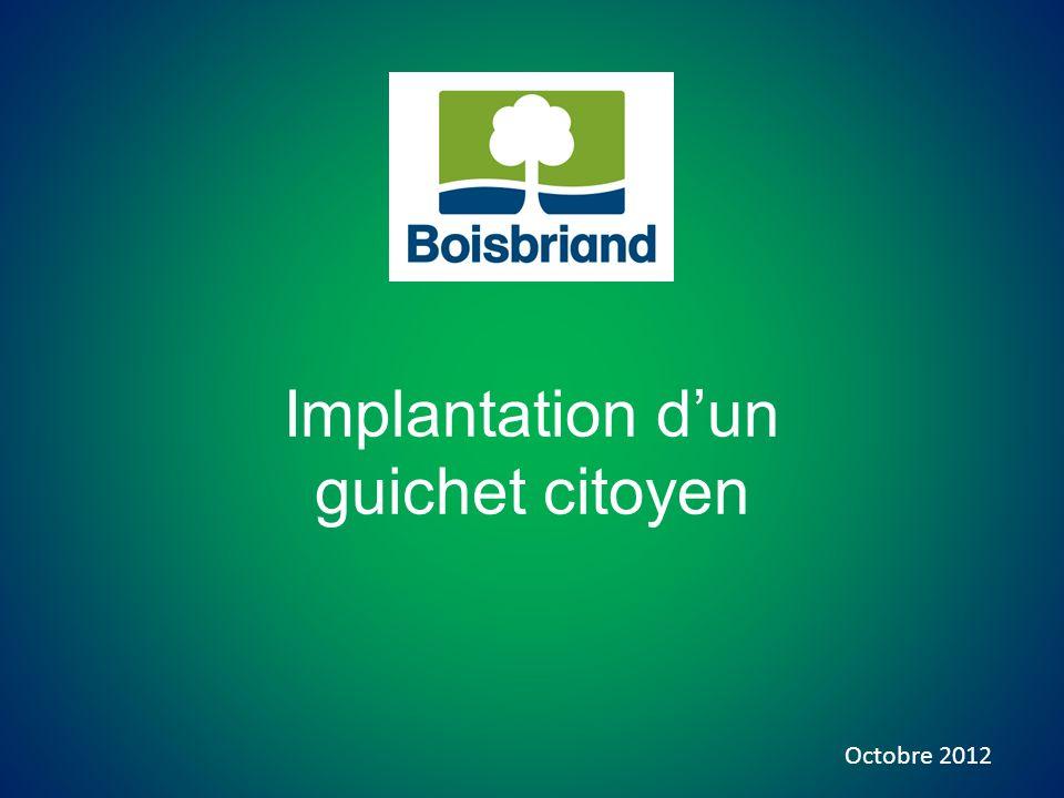 Implantation dun guichet citoyen Octobre 2012