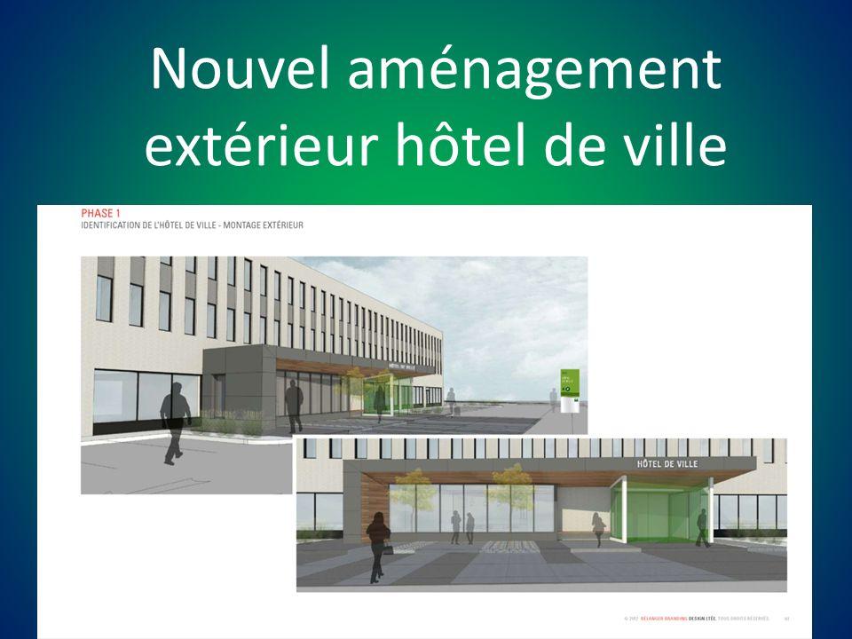 Nouvel aménagement extérieur hôtel de ville