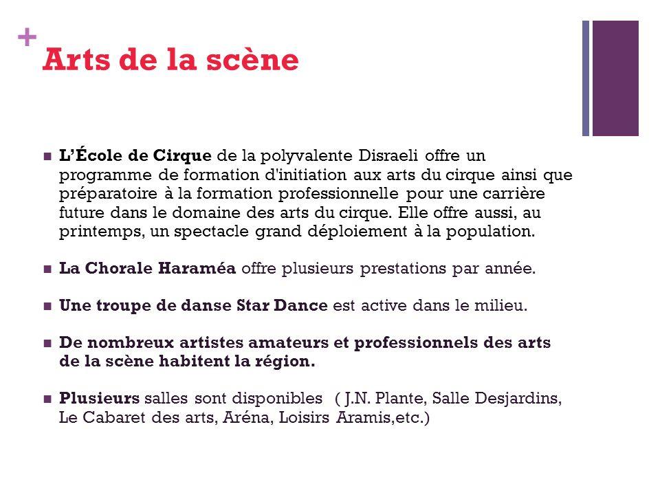 + Arts de la scène LÉcole de Cirque de la polyvalente Disraeli offre un programme de formation d initiation aux arts du cirque ainsi que préparatoire à la formation professionnelle pour une carrière future dans le domaine des arts du cirque.