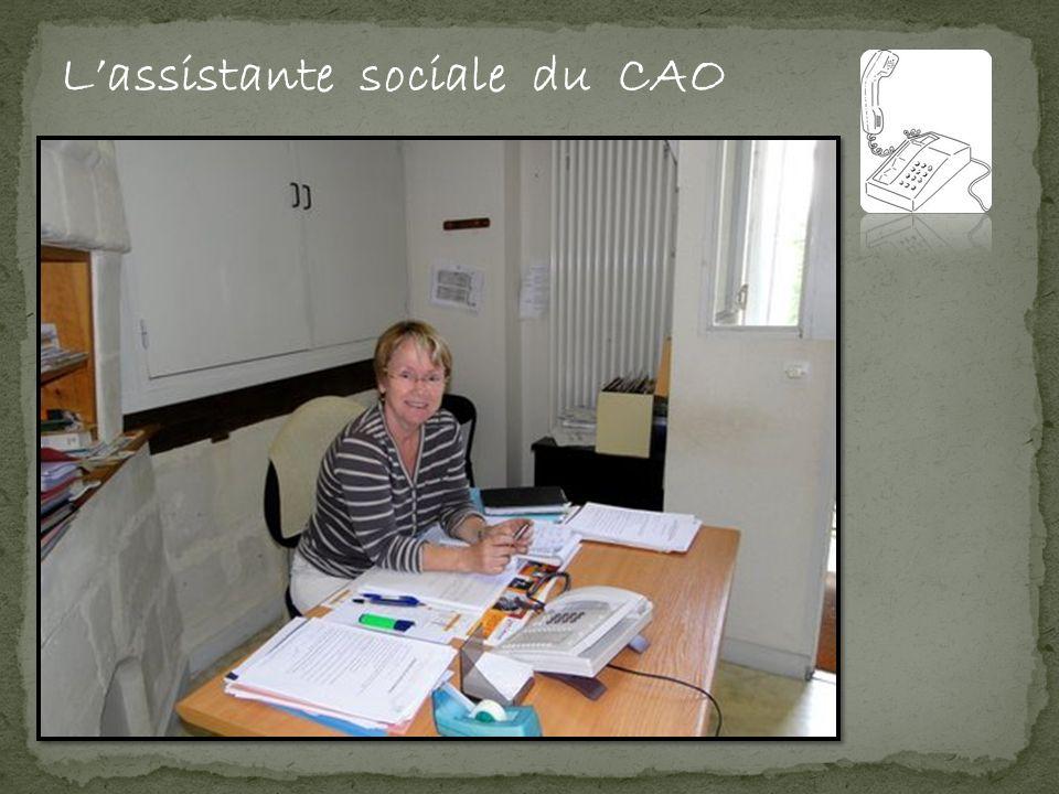 Lassistante sociale du CAO