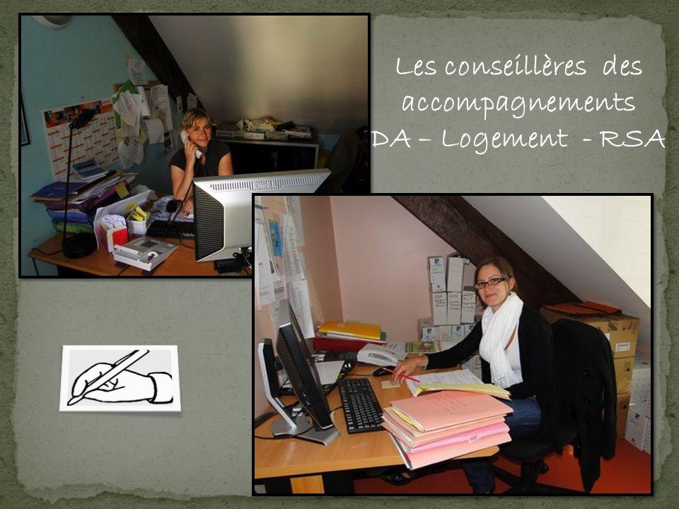 Les conseillères des accompagnements DA – Logement - RSA