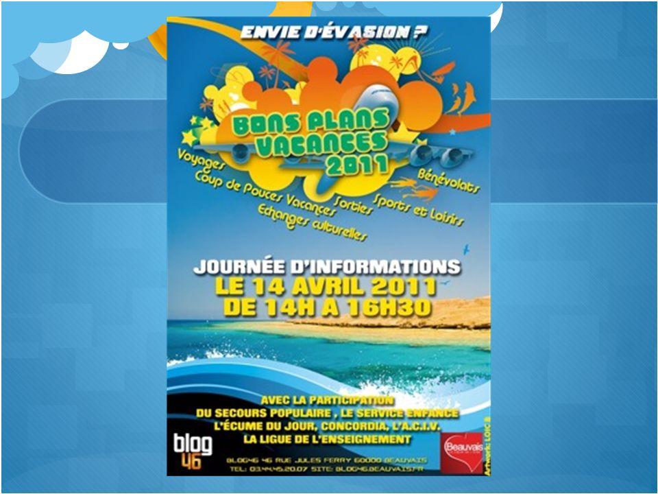 Présentation BONS PLANS VACANCES 2011 Sinformer sur les bons plans vacances et sorties dans les alentours de Beauvais.