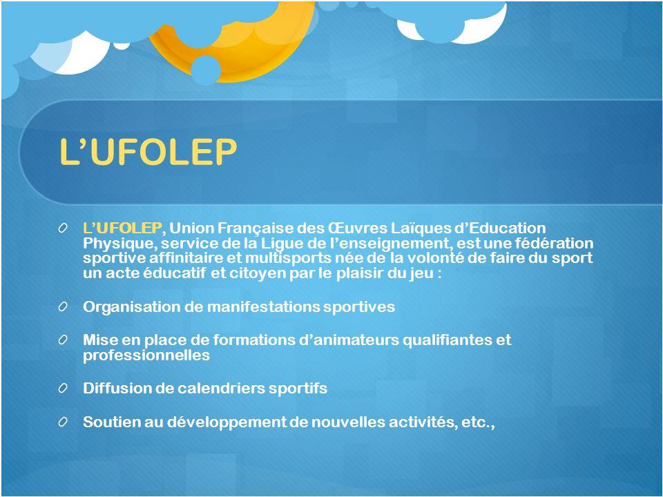 LUFOLEP LUFOLEP, Union Française des Œuvres Laïques dEducation Physique, service de la Ligue de lenseignement, est une fédération sportive affinitaire