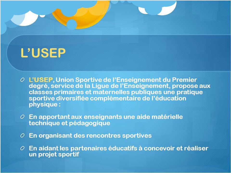 LUSEP LUSEP, Union Sportive de lEnseignement du Premier degré, service de la Ligue de lEnseignement, propose aux classes primaires et maternelles publ