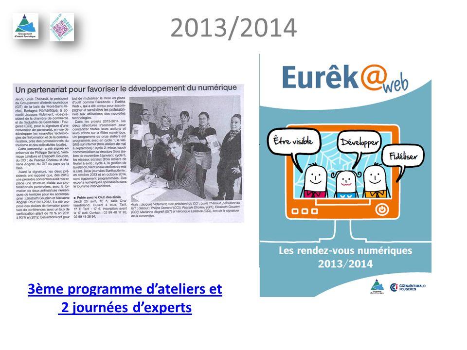 2013/2014 3ème programme dateliers et 2 journées dexperts