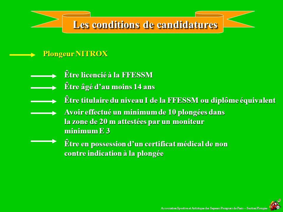 Réglementation 2/3 Paragraphe 4 Dispositions particulières au nitrox Art.