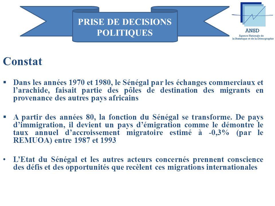 PRISE DE DECISIONS POLITIQUES UTILISATION DES DONNÉES MIGRATOIRES POUR LA PRISE DE DÉCISIONS POLITIQUES