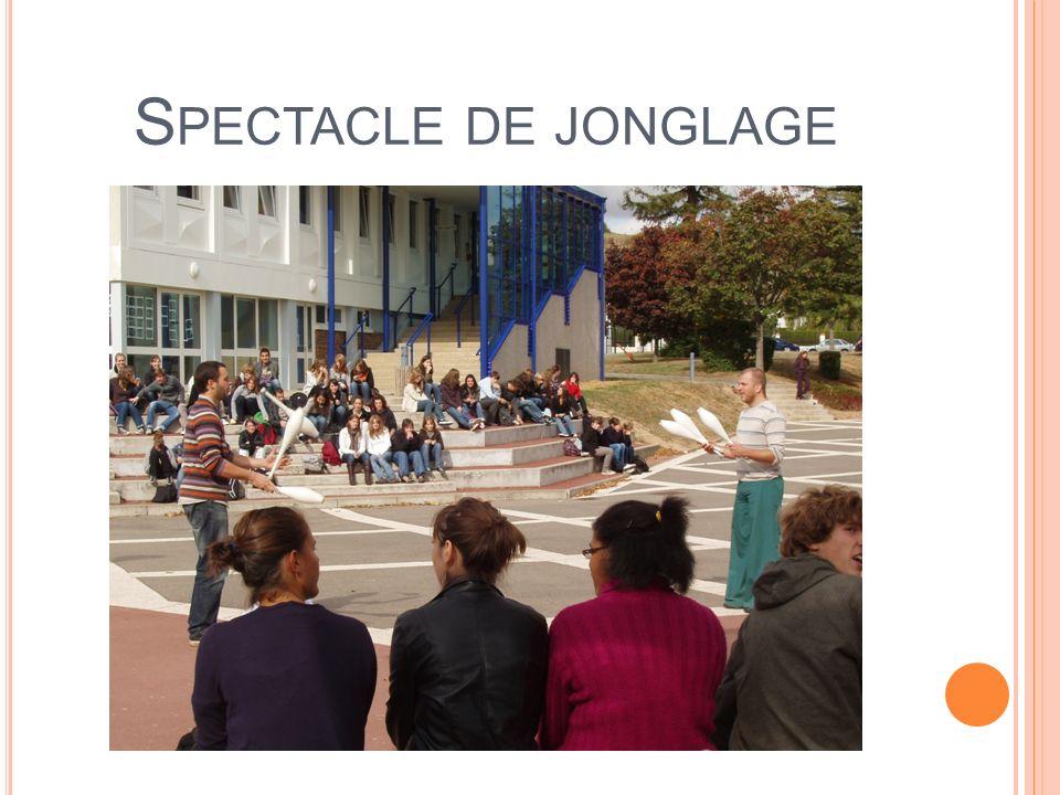 S PECTACLE DE JONGLAGE