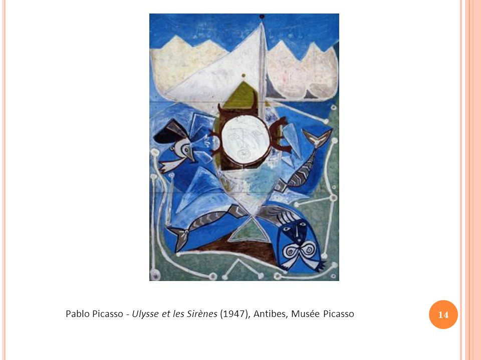 15 Ulysse et les Sirènes Mosaïque trouvée à Dougga - IIe siècle après JC Tunis, Musée du Bardo