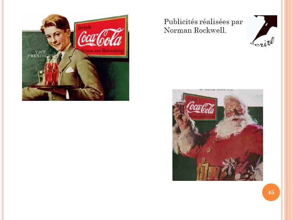 Publicités réalisées par Norman Rockwell. 45
