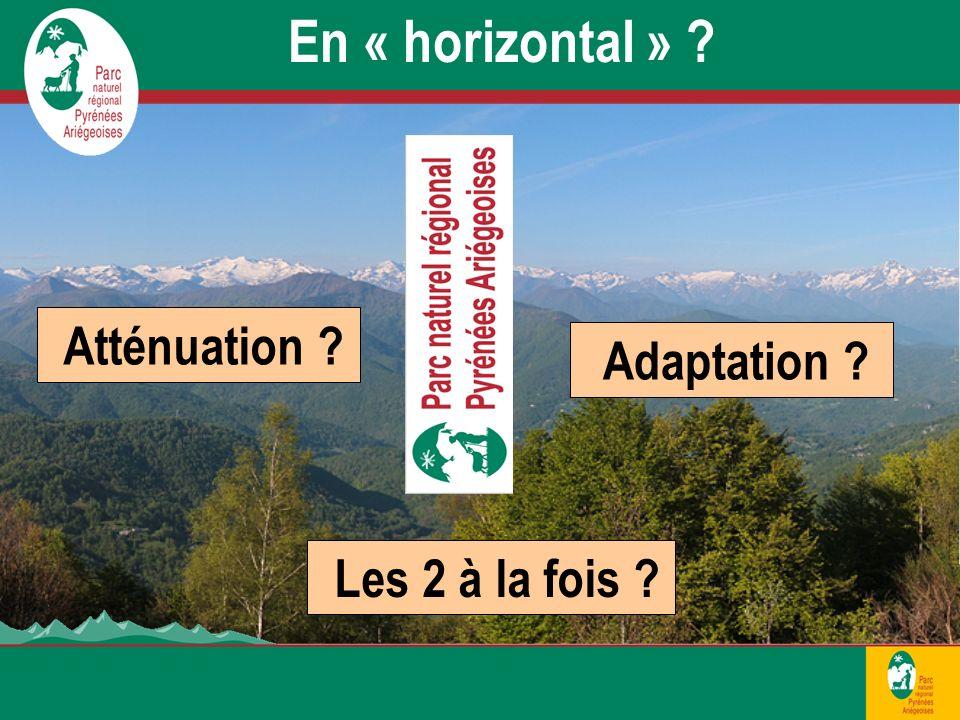 Atténuation En « horizontal » Adaptation Les 2 à la fois