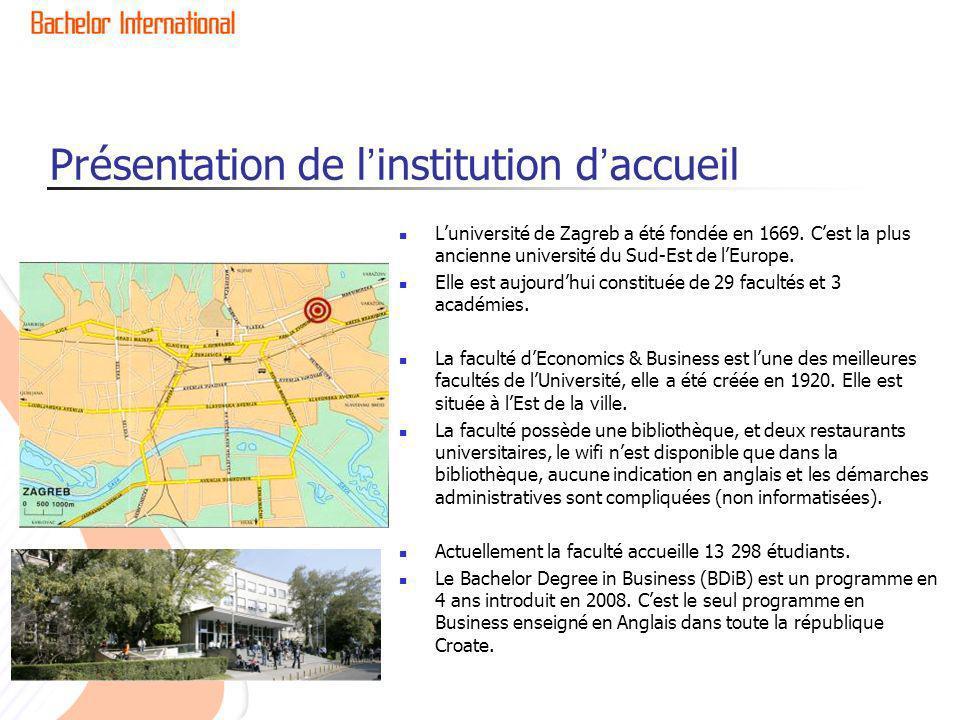 Laccueil et lintégration ESN Zagreb soccupe de laccueil en organisant une semaine dorientation (visites de la ville, des bibliothèques,…).