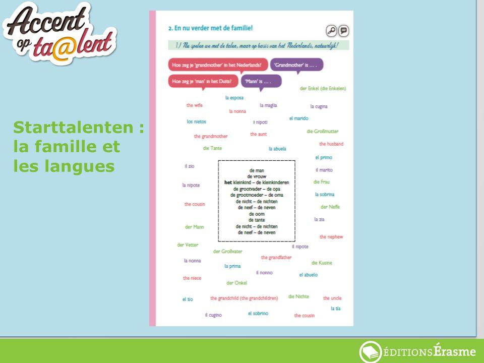Starttalenten Starttalenten : la famille et les langues