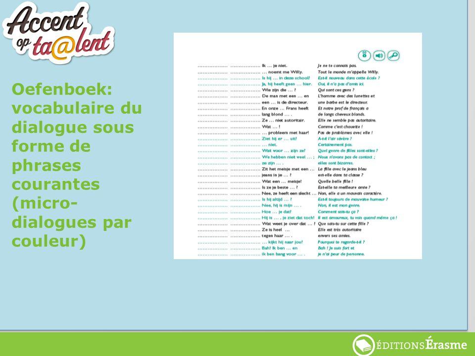 Starttalenten Oefenboek: vocabulaire du dialogue sous forme de phrases courantes (micro- dialogues par couleur)