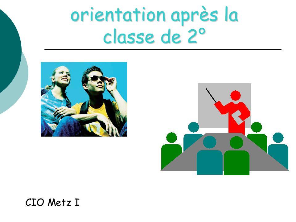 orientation après la classe de 2° CIO Metz I