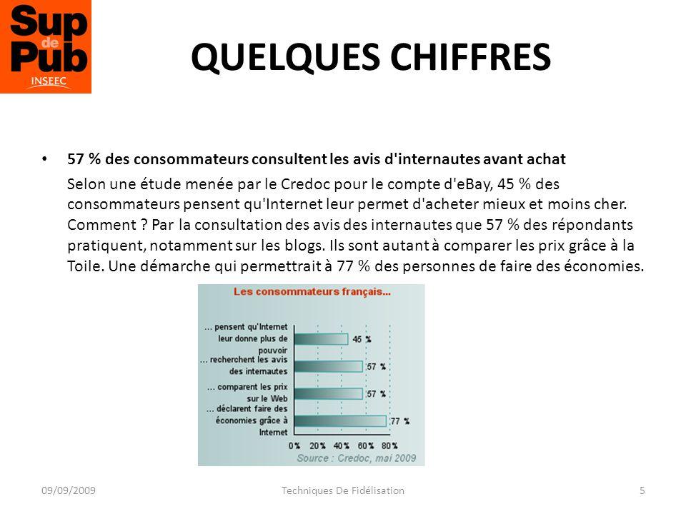 COMMENT APPLIQUER LE WEB MINING A LA CONNAISSANCE CLIENT ? 16Techniques De Fidélisation09/09/2009