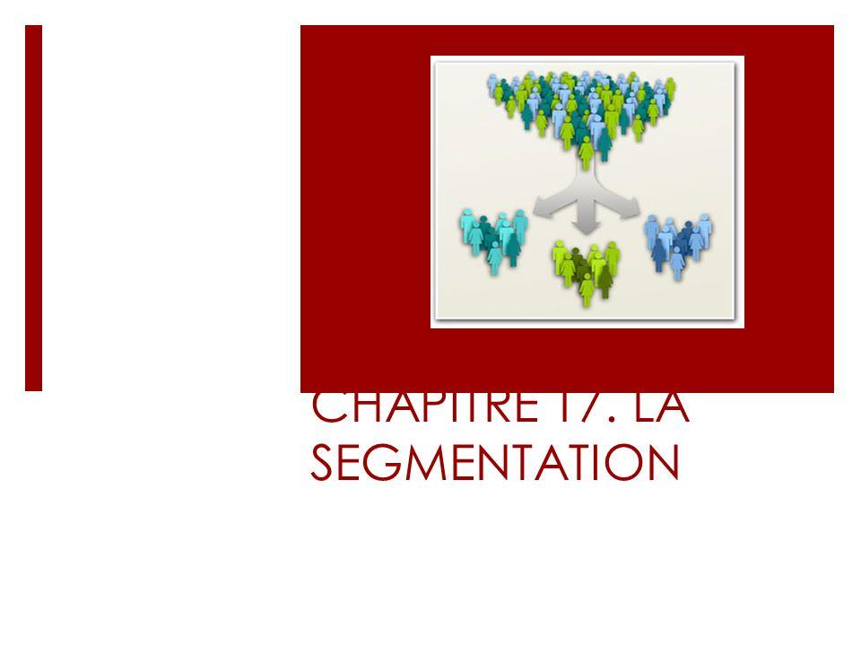 CHAPITRE 17. LA SEGMENTATION CHAPIT RE